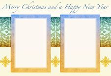 Free Christmas Card To Add Your Picture Royalty Free Stock Photo - 15870655