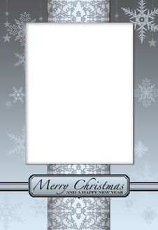 Free Christmas Card To Add Your Picture Stock Photo - 15870840