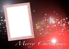 Free Christmas Card To Add Your Picture Stock Photo - 15870860