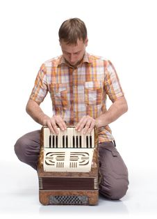 Free Accordion Guy Sets Stock Photo - 15871930