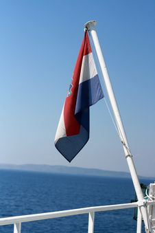 Free Croatian Flag On The Ferry Royalty Free Stock Images - 15871999