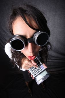 Free Manager With Calculator Stock Photo - 15872000