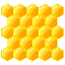 Free Honeycomb, Isolated On The White. Vector. Royalty Free Stock Images - 15872079