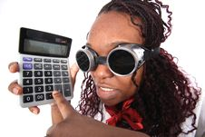 Free Manager With Calculator Stock Photo - 15872250