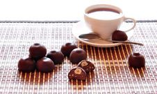 Free Chocolate Candies And Coffee Royalty Free Stock Images - 15872819