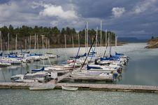 Free Sailboats At Marina In Evening Light Stock Image - 15872981