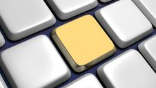 Free Keyboard (detail) With Empty Key Royalty Free Stock Photo - 15872985