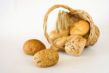 Free Basket With The Bread Royalty Free Stock Image - 15874036