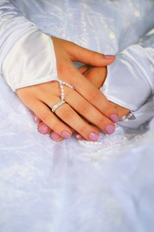 Free Bridal Hands Stock Image - 15874271