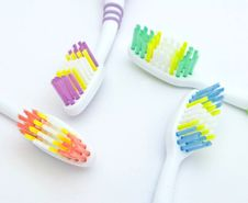 Free Colourful Toothbrushes Royalty Free Stock Images - 15874559