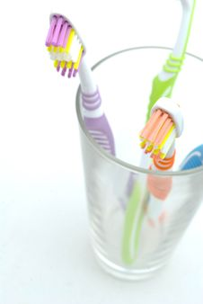 Free Colourful Toothbrushes Stock Photo - 15874580