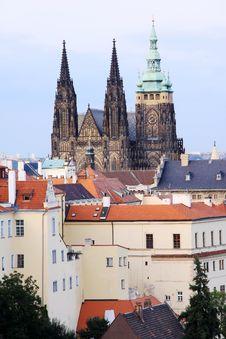 View On The Autumn Prague Gothic Castle Stock Photo