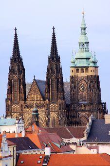 Prague Gothic Castle Stock Photo