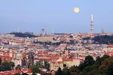 Free View On Prague After Sunset Stock Image - 15874721