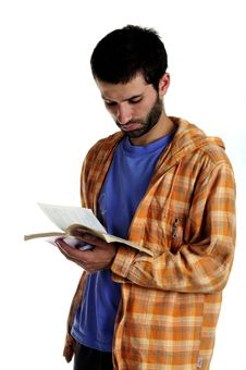 Free Young Man Reading Stock Image - 15875201