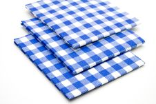 Free Blue Whiteness Table Cloths Stock Photo - 15875240
