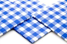 Blue Whiteness Table Cloth Royalty Free Stock Images