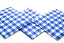 Blue Whiteness Table Cloth Stock Photo