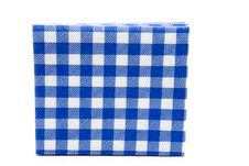 Blue Whiteness Table Cloth Royalty Free Stock Photo