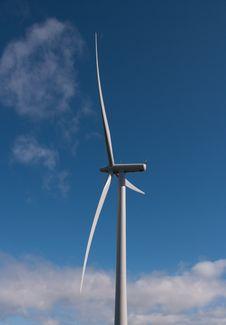 Free Single Wind Turbine In The Sun Stock Image - 15875551