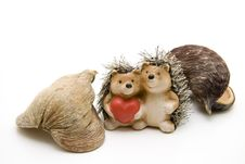 Free Hedgehog Pair With Heart Stock Image - 15875781