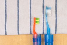 Free Travel Tooth Brush Royalty Free Stock Photo - 15876665