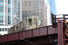 Free Elevated Commuter Train In The City Royalty Free Stock Images - 15877489