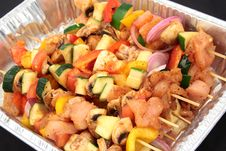 Free Raw Kabobs Ready To Be Grilled Stock Photo - 15877520