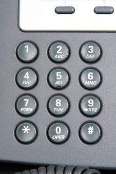 Free Numeric Keypad Of A Telephone. Stock Photo - 15877540
