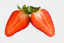 Free Strawberry Halves Royalty Free Stock Photos - 15877718