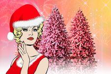 Free Christmas, Santa Claus Women Background Stock Photography - 15877832