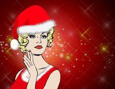 Free Christmas, Santa Claus Women Background Royalty Free Stock Photo - 15877855