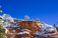 Free Zion National Park In Winter Royalty Free Stock Images - 15877879