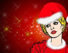 Free Christmas, Santa Claus Women Background Stock Photography - 15877912