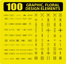 Free 100 Graphic, Floral, Tattoo Design Royalty Free Stock Photos - 15878008