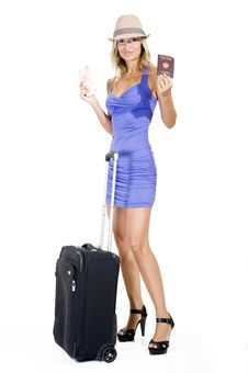 Traveling Woman Royalty Free Stock Images
