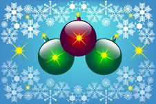Free Christmas Background With Christmas Balls Stock Photography - 15878022