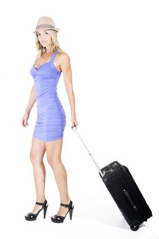Traveling Woman Royalty Free Stock Photos