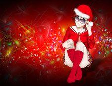 Free Christmas, Santa Claus Women Background Stock Images - 15878044