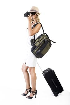Free Traveling Woman Stock Image - 15878061