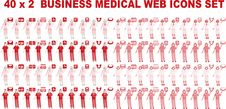 Free 40 X 2 Business Medical Icons Stock Photo - 15878140