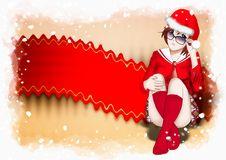 Free Christmas, Santa Claus Women Background Royalty Free Stock Photography - 15878347