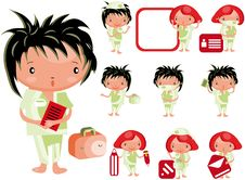 Free Medical Website Icons Staff  Kids Stock Image - 15878421