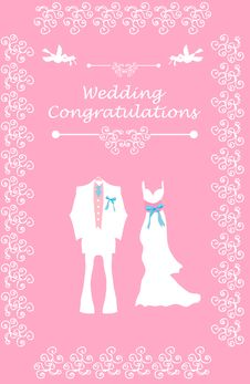 Free Wedding Bridal Card With Couple Stock Photos - 15878563