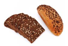 Bread With Sesame Seeds Royalty Free Stock Photo