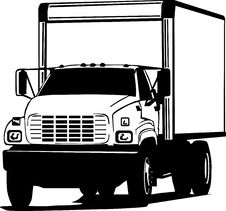 Free Black And White Transportation Truck Royalty Free Stock Photography - 15879687