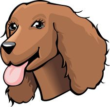 Free Color Cocker Spaniel Cartoon Royalty Free Stock Images - 15879719