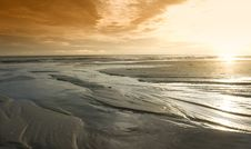 Free Sunset On The Beach Stock Photography - 15879902