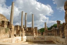 Free Roman Baths In Leptis Magna Royalty Free Stock Image - 15879946