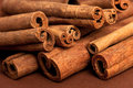 Free Cinnamon Sticks On Brown Stock Image - 15886831